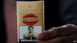 Cigarette packet at a Delhi stall, 3 January
