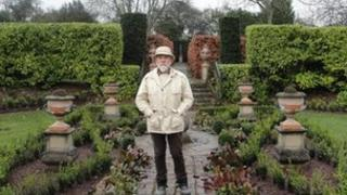 Sir Roy Strong in The Laskett Gardens