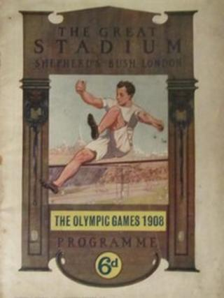 Front cover of 1908 Olympics programme