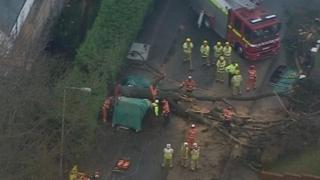 The scene in Tunbridge Wells where a man was killed by a falling tree
