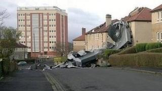 Storm damage in Glasgow