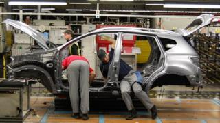 Workers at Nissan's Sunderland plant