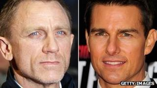 Daniel Craig (left) and Tom Cruise