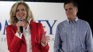 Ann Romney introduces her husband Mitt Romney during the campaign
