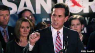 Rick Santorum in Johnston, Iowa