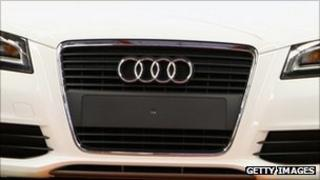 Front of an Audi car