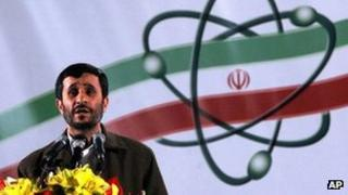 Iranian President Mahmoud Ahmadinejad in Iran's nuclear enrichment facility in Natanz in 2007