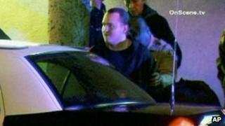Harry Burkhart, arrested on suspicion of arson in Los Angeles, California, 2 January 2012