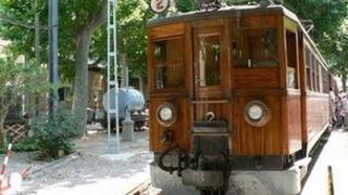The Soller Palma train, an example of a narrow gauge railway