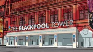 Artist impression of the restoration work at Blackpool Tower