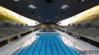 The Aquatics Centre at the Olympic Park in Stratford