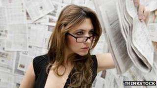 Model posing as female reporter
