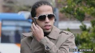 Aggro Santos appearing at Chichester Crown Court on 5 January 2012