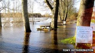 The River Ure at Boroughbridge