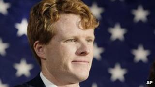 file photo of Joseph P Kennedy III at a campaign event for Martha Coakley in Medford, Massachusetts 7 January 2010