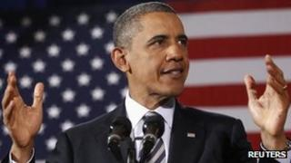 US President Barack Obama gives a speech on jobs and the economy in Cleveland, Ohio 4 January 2012