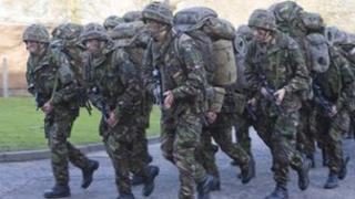 Recruits in training at Catterick Garrison
