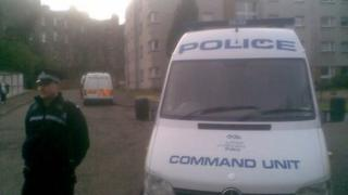 Police in Gillespie Crescent
