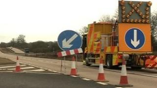 A46 between the A6006 and A607 at Syston was closed