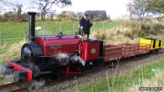 The Hunslet 2ft gauge locomotive Alice