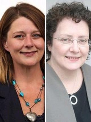 Leanne Wood and Elin Jones