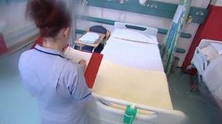 Nurse in a hospital ward