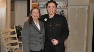 Laura and Kyle Jones, a mother-son team of Republican state legislators in New Hampshire 8 January 2012