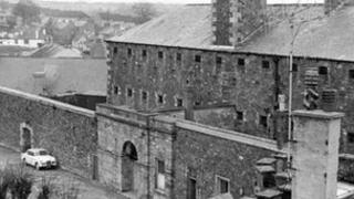 An old picture of the former Haverfordwest Prison