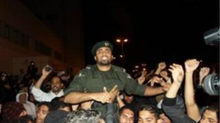 Ali al-Ghanami joins the protesters, 17 February 2011