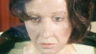 Wax impression of dead woman's head