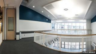 Inside new Sir E Scott School on Harris. Pic: Leila Angus