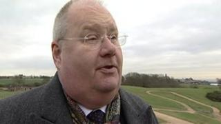 Eric Pickles at the Olympic mountain bike course