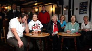 Anti-HS2 campaigners