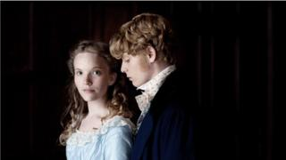 Rosa Bud (Tamzin Merchant) and Edwin Drood (Freddie Fox)