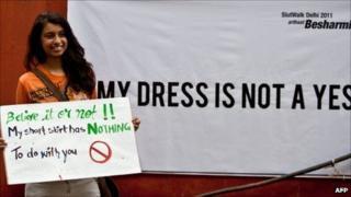 Campaigner at SlutWalk Delhi 2011