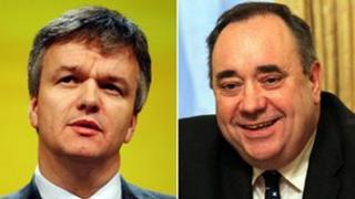Michael Moore and Alex Salmond