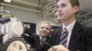 ICT pupils at Oakwood Park Grammar School