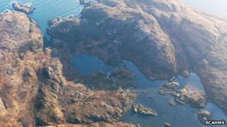 The site of the possible medieval fishing village. Pic: RCAHMS