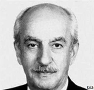 Soviet spy Gevork Vartanian (image from website of Russian foreign intelligence agency svr.gov.ru)
