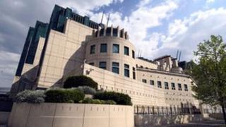 The MI6 building in London