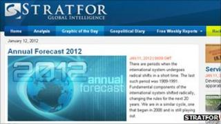 Stratfor website