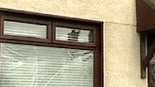 Broken house window