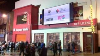 BBC big screen in Derry