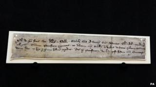 William Wallace letter