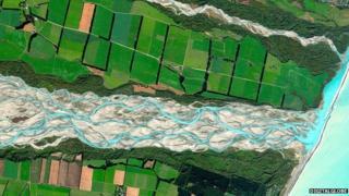 Rakaia River, NZ DigitalGlobe