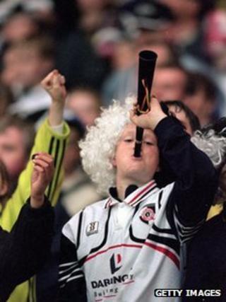 Darlington fan, 2000. Photo: Getty Images