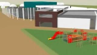 Computer generated impression of plans for the sports complex in Halesworth