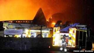 A90 fire [Pic: Press and Journal]