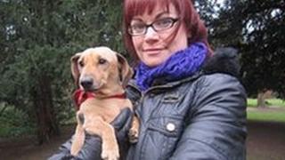 Carrie Daniel and dachshund