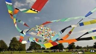 A kite at Bristol International Kite Festival
